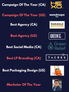 Marigold PR wins AdCann Cannabis Marketing Agency of the Year Canada
