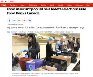food banks canada hunger count 2018 cbc coverage