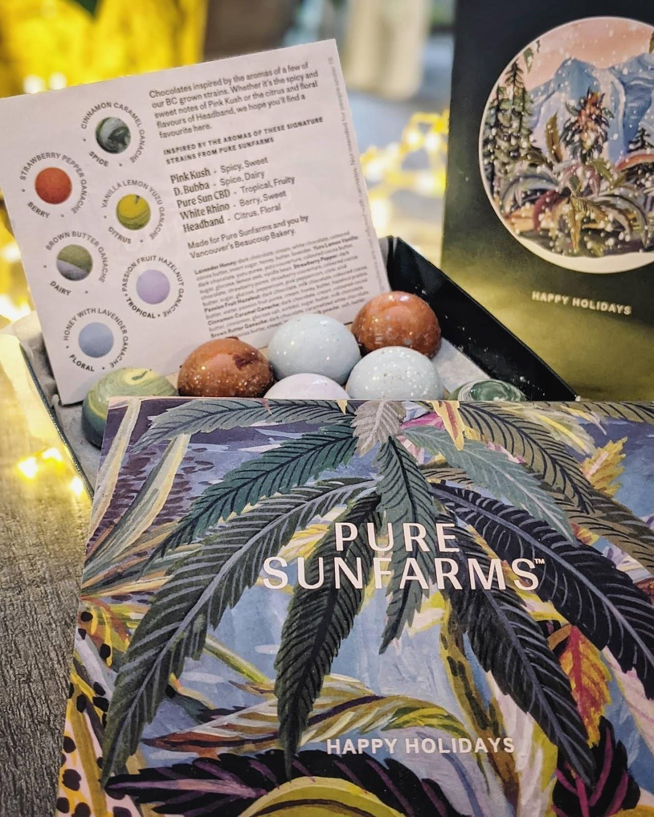 pure sunfarms chocolates cannabis campaigns we love